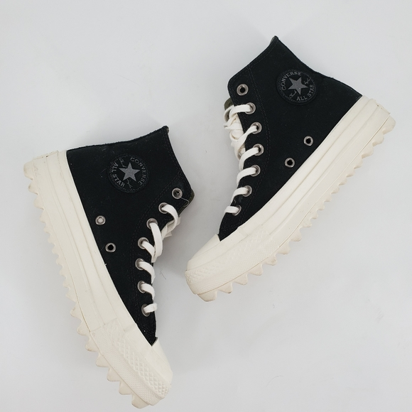 Black High Top Traction Sole Size